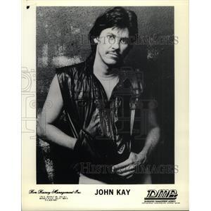 1986 Press Photo John Kay Singer Songwriter Guitarist - RRY69285