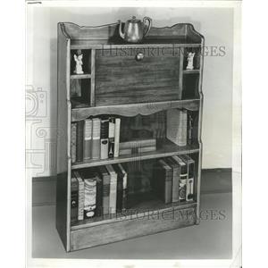 1955 Press Photo Bookcase Hide-A-Desk - RRW46153