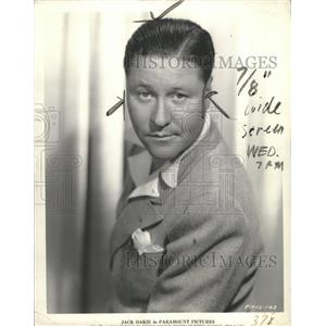 1934 Press Photo Jack Oakie Actor Paramount Pictures - RRW36395