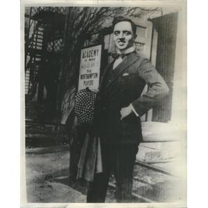 1937 Press Photo William Horatio Powell American Film Actor - RSC88321