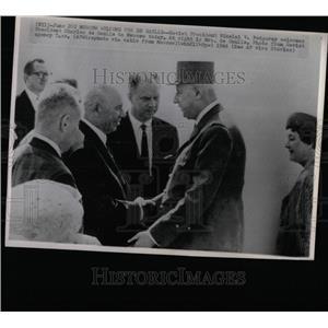 1966 Press Photo Charles De Gaulle Nikolai Podgorny - RRY63303