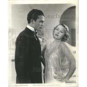 1936 Press Photo Craig Reynolds and Joan Blondell Star In Stage Struck