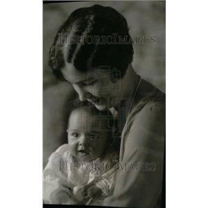 Press Photo Mrs. Leland Harrison and daughter Anne - RRU25501