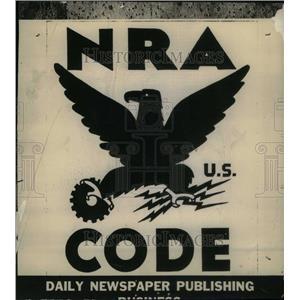 1939 Press Photo Code Daily Newspaper Publishing NRA - RRU26647