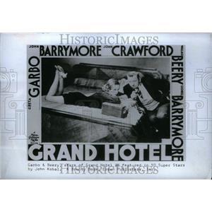 1974 Press Photo Garbo Beery Grand Hotel John Kobal - RRU31143