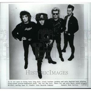 1987 Press Photo The Cult Entertainers Guitar Rock - RRU33143