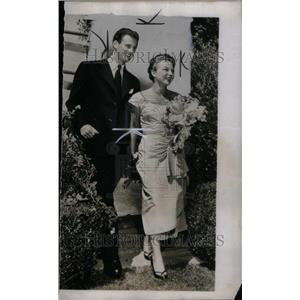 1950 Press Photo Samuel Goldwyn Jr Jennifer Howard - RRU43521