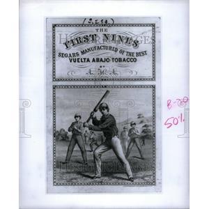 Press Photo The First Nine tobacco poster - RRU44977