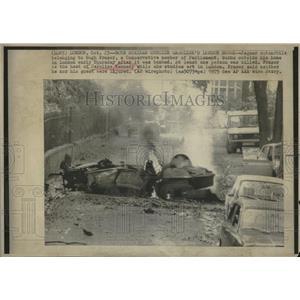 1975 Press Photo Bomb strike Caroline London House Hugh - RRV06679