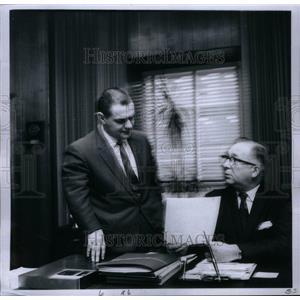 1969 Press Photo Pres Dwight Havens/V-P Merritt Martin - RRU30691