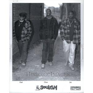 "1995 Press Photo ""Soulism"" Members Carl, Chan, And Jay - RRU43395"