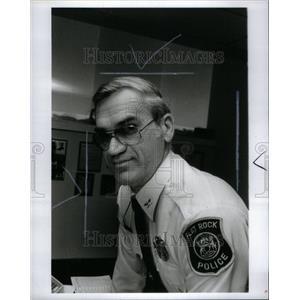 1985 Press Photo Mayor Anders Police Raymond Hoffman - RRU37665