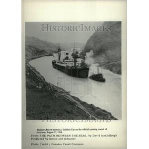 1977 Press Photo Steamer Ancon Culebra Cut Canal - RRU27897
