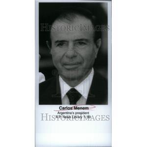 1999 Press Photo Carlos Menem Argentina President - RRU28995