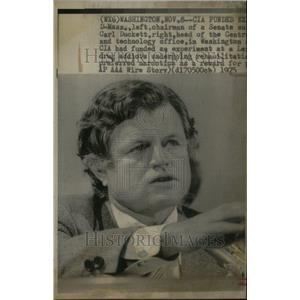 1975 Press Photo Edward Moore Ted Kennedy Senator Party - RRU24179