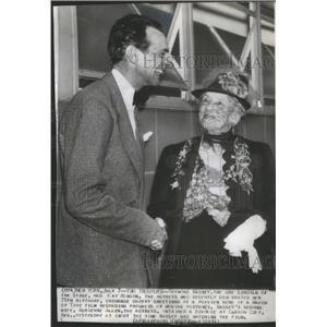 1939 Press Photo Raymond Hart Massey Abraham Lincoln May Robson - RSC81363