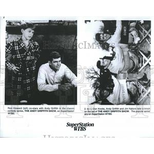 1985 Press Photo Don Knotts Andy Griffith Jim Nabors The Andy Griffith Show