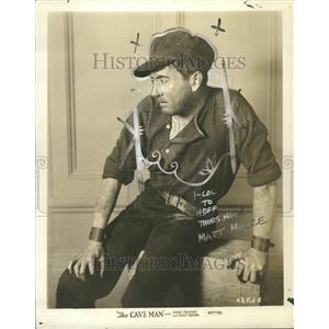 1926 Press Photo Matt Moore The Cave Man Actor - RRT05659