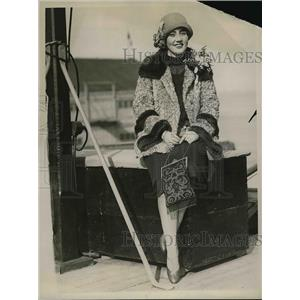 1926 Press Photo Mrs. Estelle Campbell Sailing From San Francisco