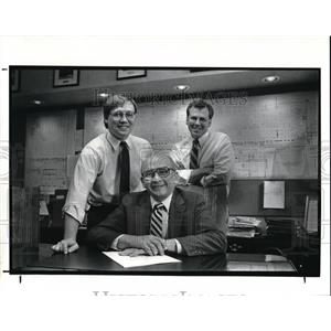 1988 Press Photo Todd Romanski with Edward and Tom Baugh - cva00901