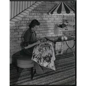 1955 Press Photo Circus themed interior home design