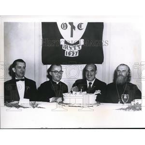 1960 Press Photo William Niayrich, Bishop Valerian, Mayor Anthony Celebrezze