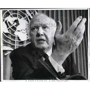 1970 Press Photo Paul Edwards of UNICEF Pleads for Western Aid in Biiafra