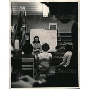 1967 Press Photo Blossom School counseling session with speaker Barbara O'Reilly