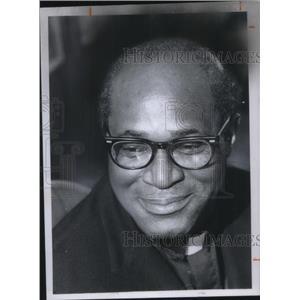 1976 Press Photo Rev. Moses B. Anderson of Xavier University of Louisiana