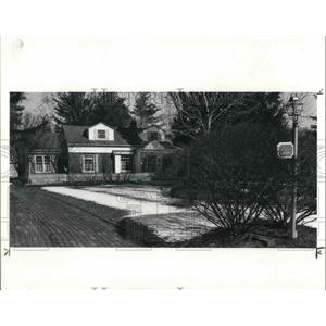 1990 Press Photo Home of Dr. Joohn F. Boyle Jr. in Mansfield