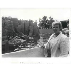 1986 Press Photo Ann Dunning, Sea World Architect