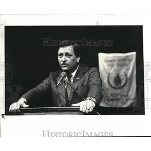 1985 Press Photo Gov. Richard Celeste at Shakerc Hi.