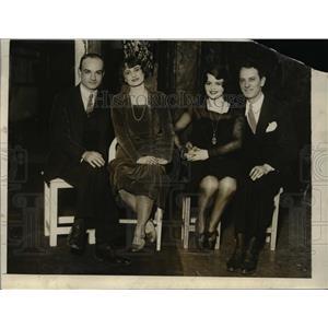 1928 Press Photo Granville Englishm Eve de la Tour, Sally Starr, Bob Watson