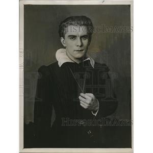 1927 Press Photo Herr Steinbock as Hamley in a play