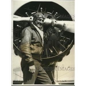 1931 Press Photo CPt Herbert Partridge, WW Flyer - nee18576