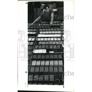 1987 Press Photo Dixon-Ticonderoga worker Dale Lawrence  - cva94550