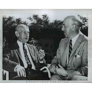 1960 Press Photo Dr Harry Einhern and father Max Einhern - nee84187