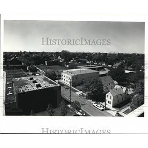 1990 Press Photo Detroit, Shoreway area. View from 70th St. - cva89124