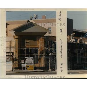 1996 Press Photo Richmond Place Shelter construction, Portland - orb48957