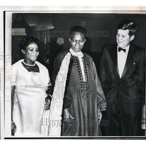 1961 Press Photo President John F. Kennedy Prime Minister Abubaker Balewa