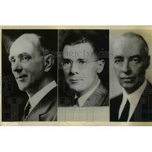 1936 Press Photo US diplomats Thomas Davis, Walter Sohdellkoph & Thomas Horn