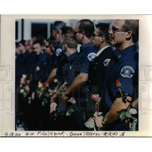 2000 Press Photo Funeral Fire Chief Daniel E Rosenthal - orb12119