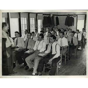 1939 Press Photo Rookies at Police Training School - nee85412