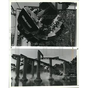 1989 Press Photo Roller Coaster at Cedar Point - cva83189
