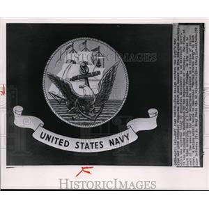 1959 Wire Photo The Navy's New Blue and Gold Official Flag - cvw14064
