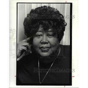 1988 Press Photo Berthina E. Palmer of the Cleveland AFL-CIO. - cvb02138