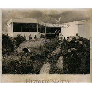1974 Press Photo Expo '74, Japan Pavilion w/ garden - spa00457
