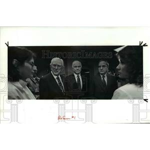 1991 Press Photo Howard Metzenbaum, Sen John Glenn & Sen George Mitchell