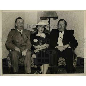 1936 Press Photo Dan Skilling, Anna M.Rosenberg and Vincent Bailey of Democrat.
