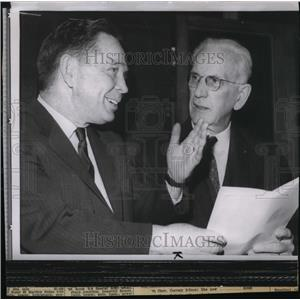 1962 Press Photo House Majority Leaders Rep Carl Albert and Rep John McCormack